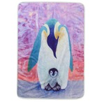 Fujiyoshi Brother's Collection Happy Animals Blanket Blue Emperor Penguin