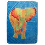 Fujiyoshi Brother's Collection Happy Animals Blanket Animal Yellow Elephant